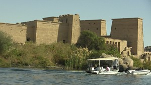boat ride to temple of aset