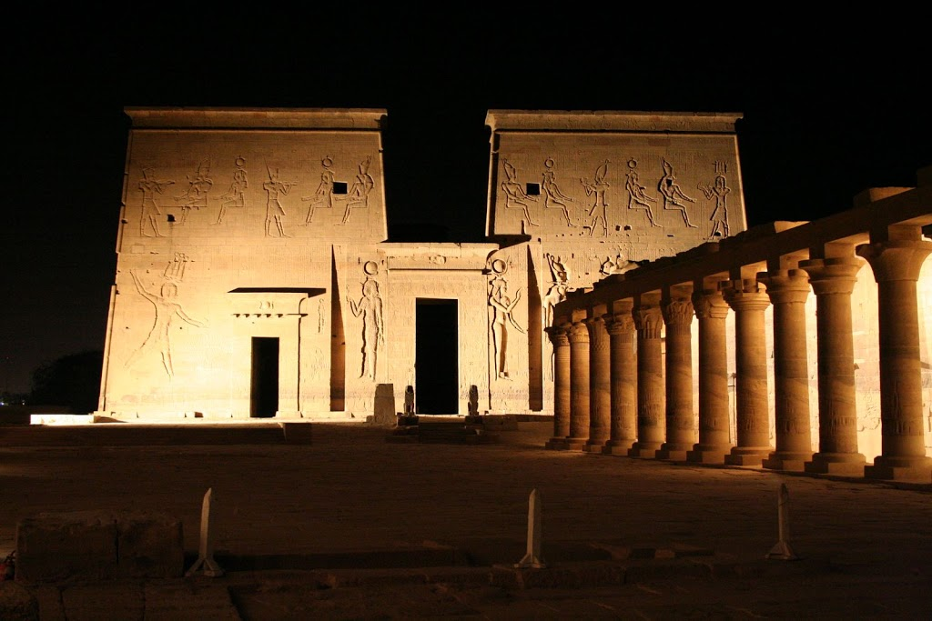 Temple of Isis at night 2
